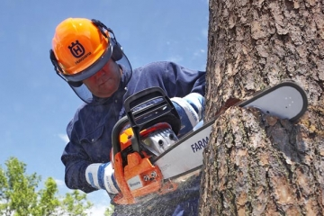 Chainsaw safety tips when cutting logs