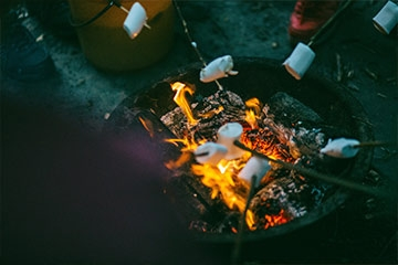 Keep the garden party going with a cosy campfire