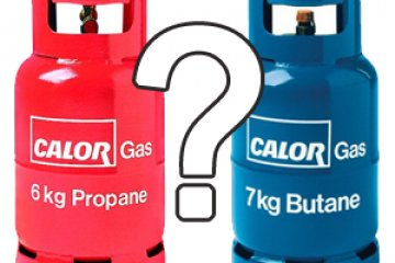 What type of gas should you choose when camping and why?
