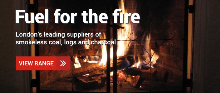 Smokeless coal, logs and charcoal